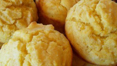 Corn coconut muffins